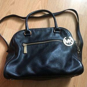 Black and Gold Leather Michael Kors Bag